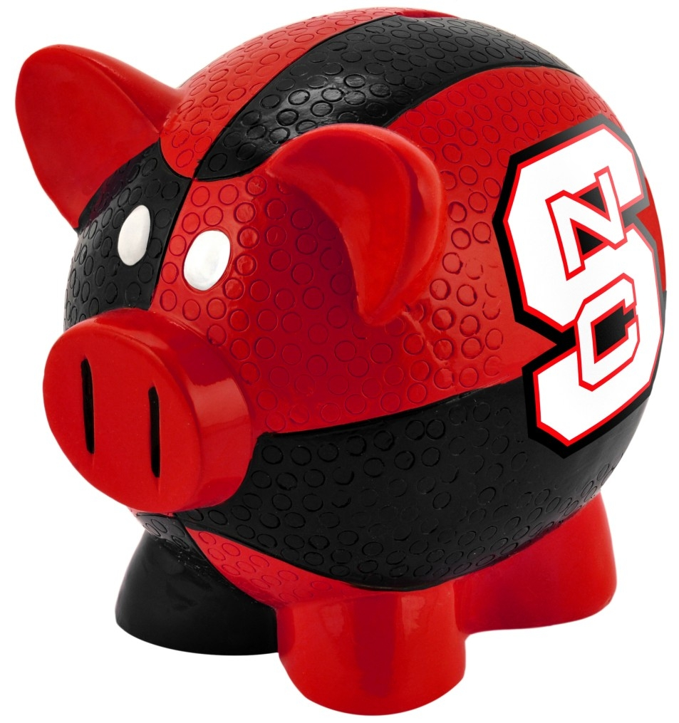 North Carolina State Wolfpack Official NCAA 4 inch  x 4 inch  x 4 inch  Piggy Coin Bank by Forever Collectibles