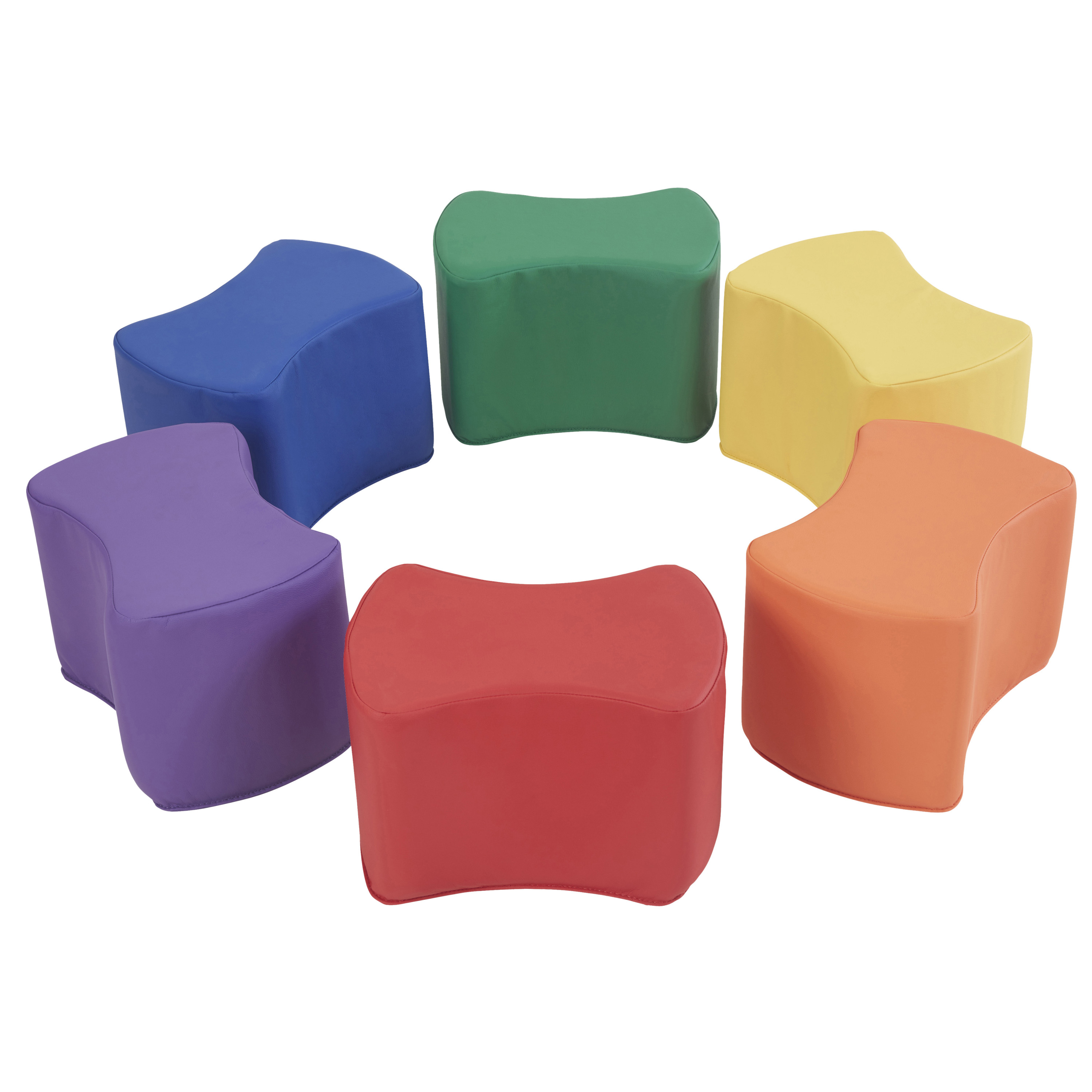 SoftZone® Butterfly Stool Set 6-Piece - Primary