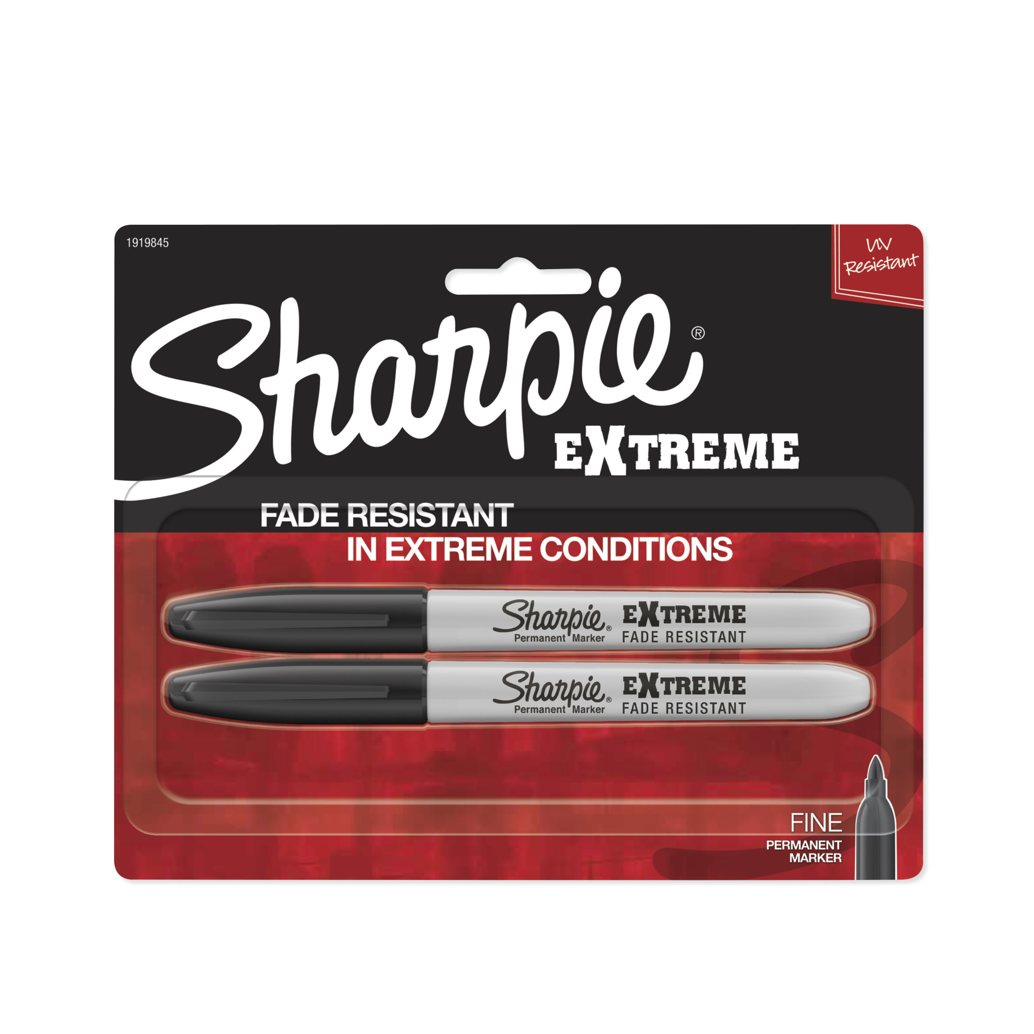 (2 Pack) Sharpie Extreme Permanent Markers, Fine Point, Black, 2 Count