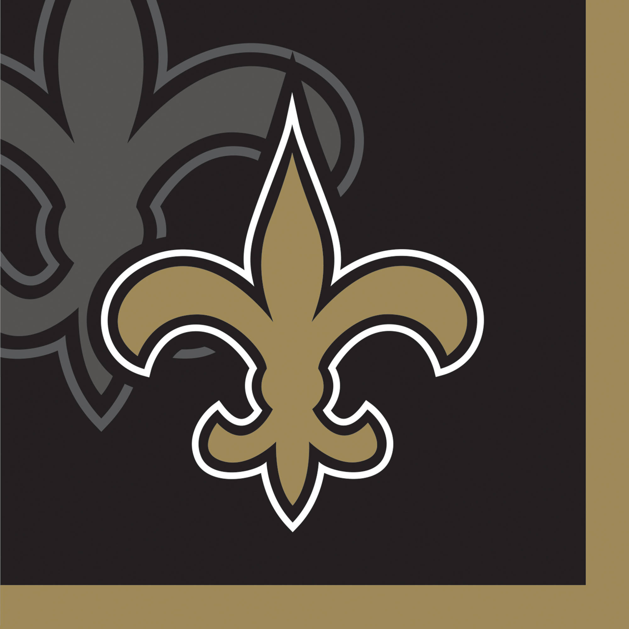 New Orleans Saints Beverage Napkins, 16-Pack