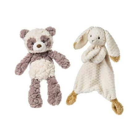 Mozlly Mary Meyer Oatmeal Bunny Lovey Plush and Mary Meyer Putty Nursery Panda Bear Plush Toddler Stuffed Animals ()