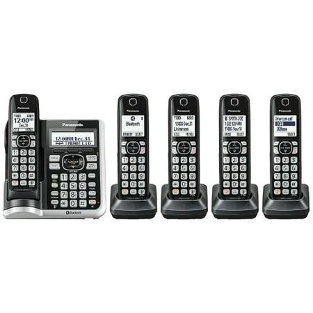 Refurbished Panasonic KX-TG785SK 5 Handset Cordless Phone w/ Talking Caller ID & Call Block