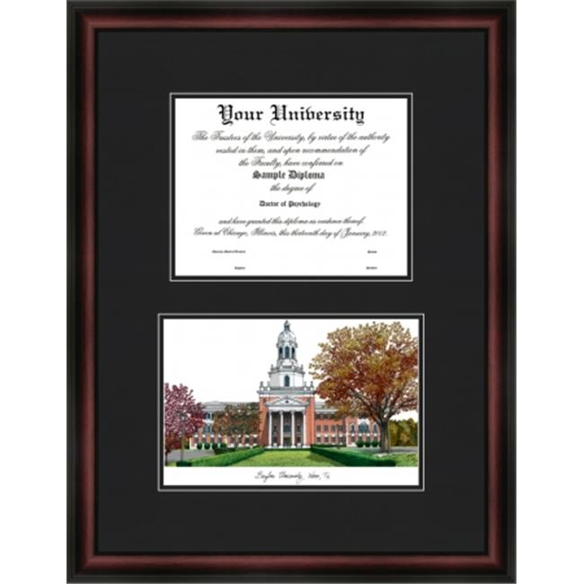 Campus Images TX955D Baylor University Diplomate Lithograph Frame
