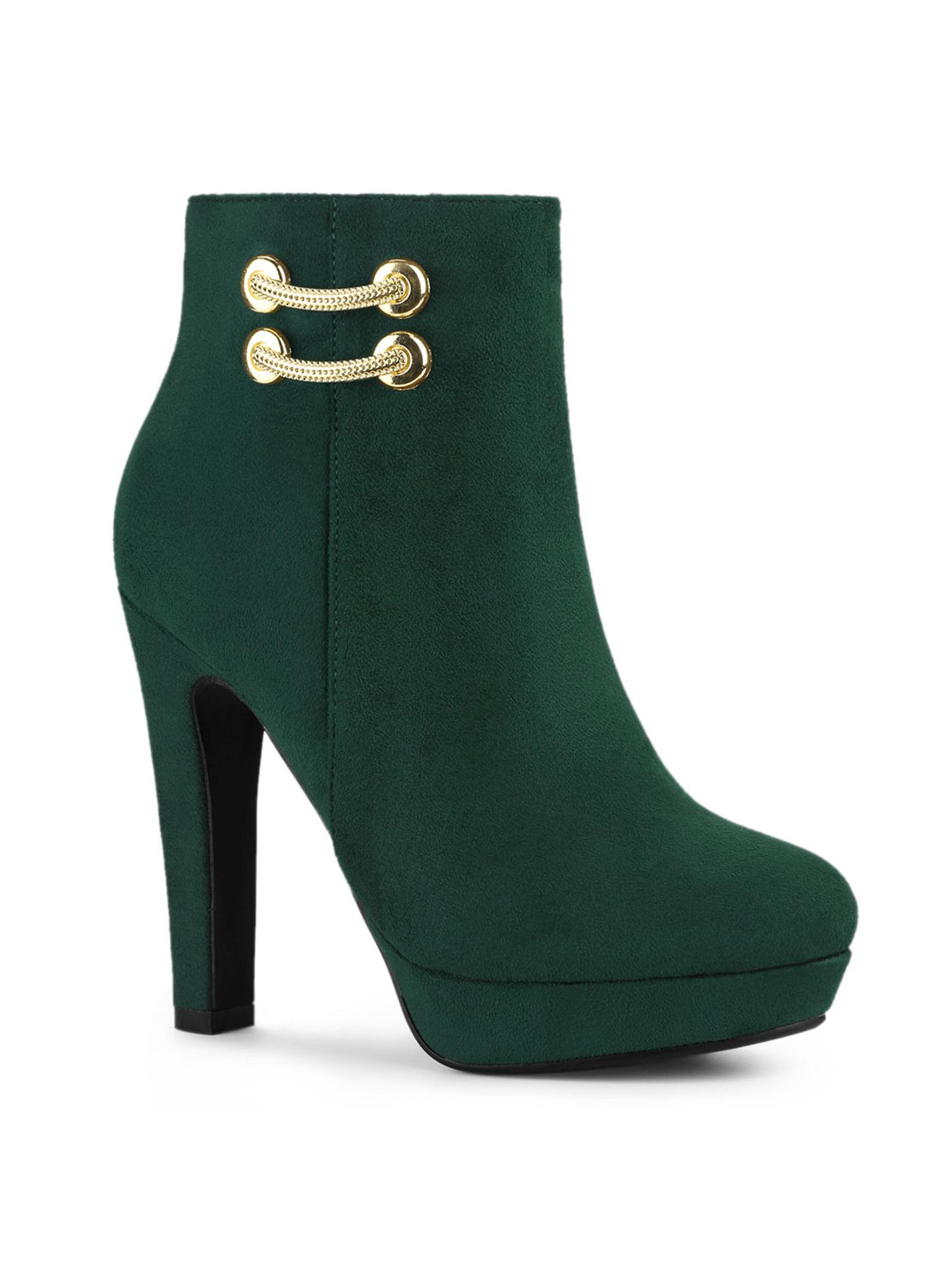 high heel platform ankle boots