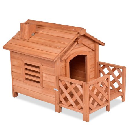 (Wooden Pet Dog House Crates with Porch Window)
