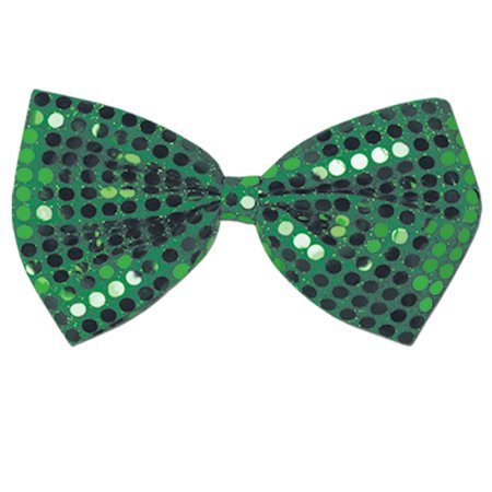 Club Pack of 12 Green Glitz 'N Gleam Sequined St. Patrick's Day Bow Ties 7