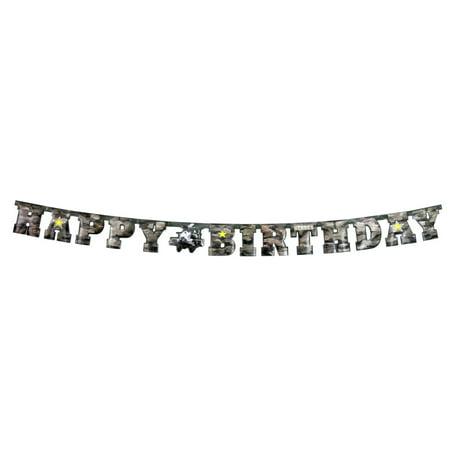 Military Camo Happy Birthday Apache Letter - Camo Happy Birthday