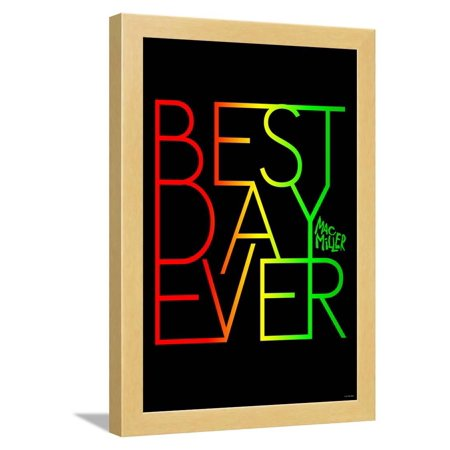 Mac Miller - Best Day Ever Framed Poster Wall Art