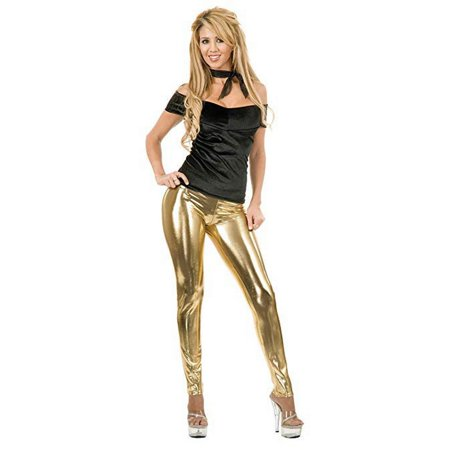 Halloween Women's Liquid Metal Leggings - Gold - Leggings Halloween