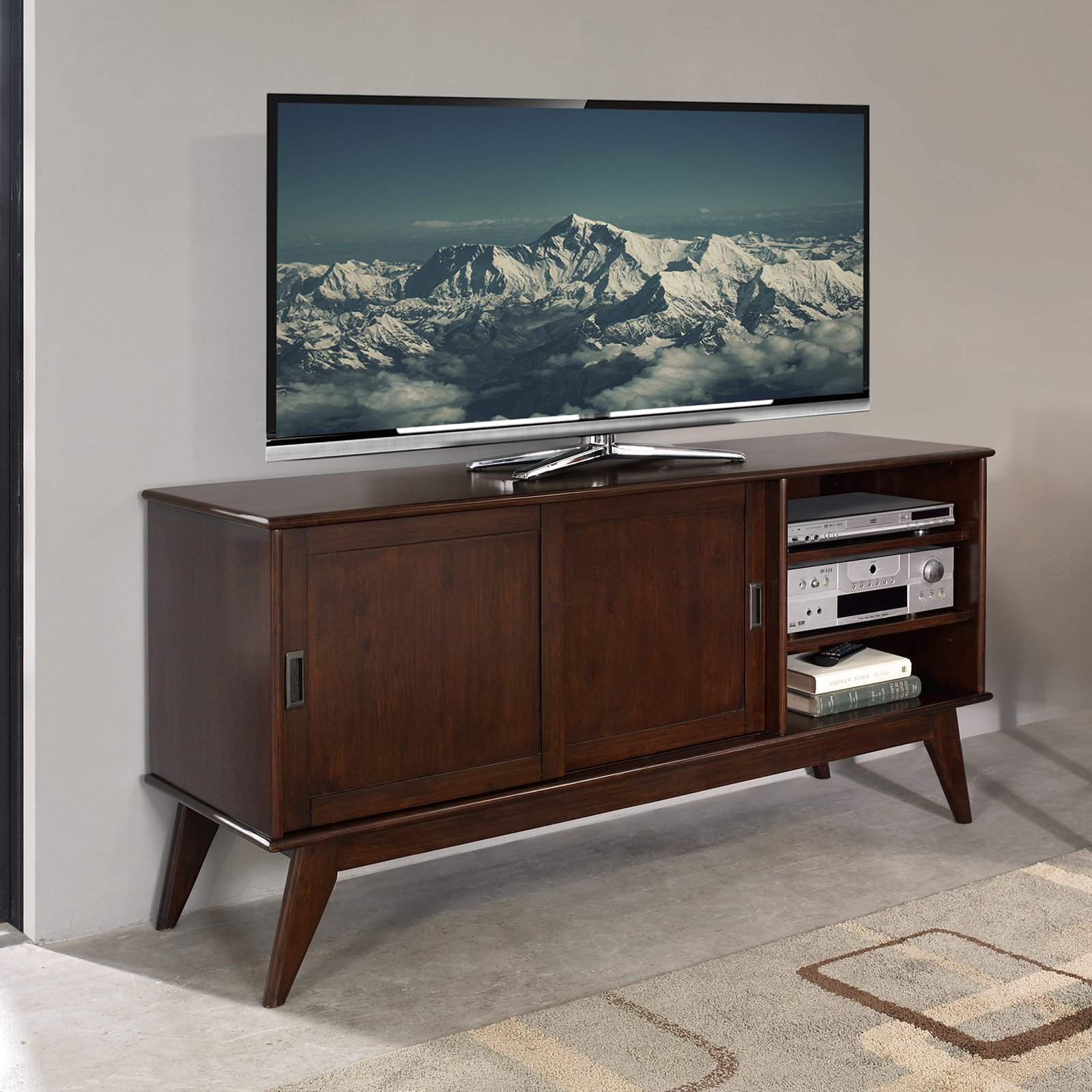 style century modern cabinet mid ideas stand tv