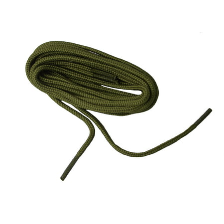 72 Inch 183 cm 2 pair pack Army Green Drab Heavy Duty 4mm round Boot Shoelaces Bootlaces