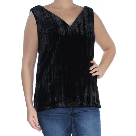 FRENCH CONNECTION Womens Black Low Back Cut Out Sleeveless V Neck Top  Size: (French Viscose)