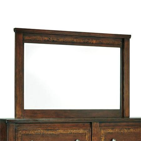 Ashley Dawlyn Bedroom Mirror In Burnished Brown