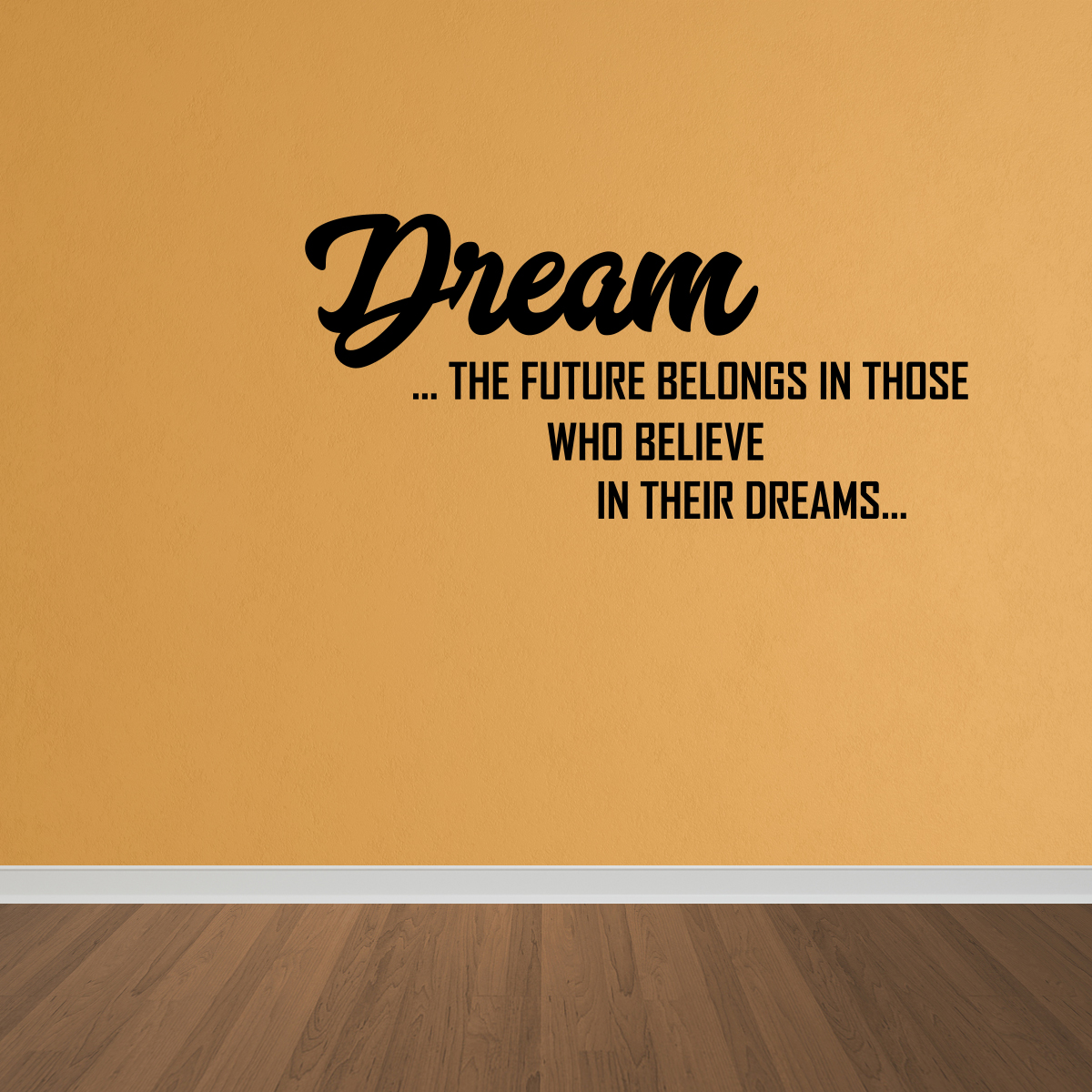 Wall Decal Quote Believe In Dreams Home Bedroom Vinyl Wall Art Decal ...