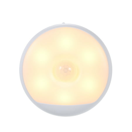 Yeelight DC5V 6LED PIR Motion Sensor Night Lamp USB Powered Operated Human Body Induction Sensitive Light Control 3 Working Modes Built-in 750mAh High Capacity Rechargeable - Body Three Light