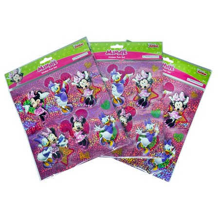 Minnie Mouse & Daisy Duck Girls 3D Stickers 3-PACK (18-CT)