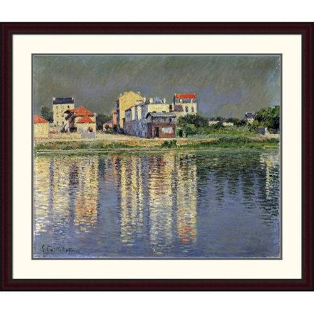 Global Gallery Banks Of The Seine At Argenteuil By Gustave Caillebotte Framed Painting Print