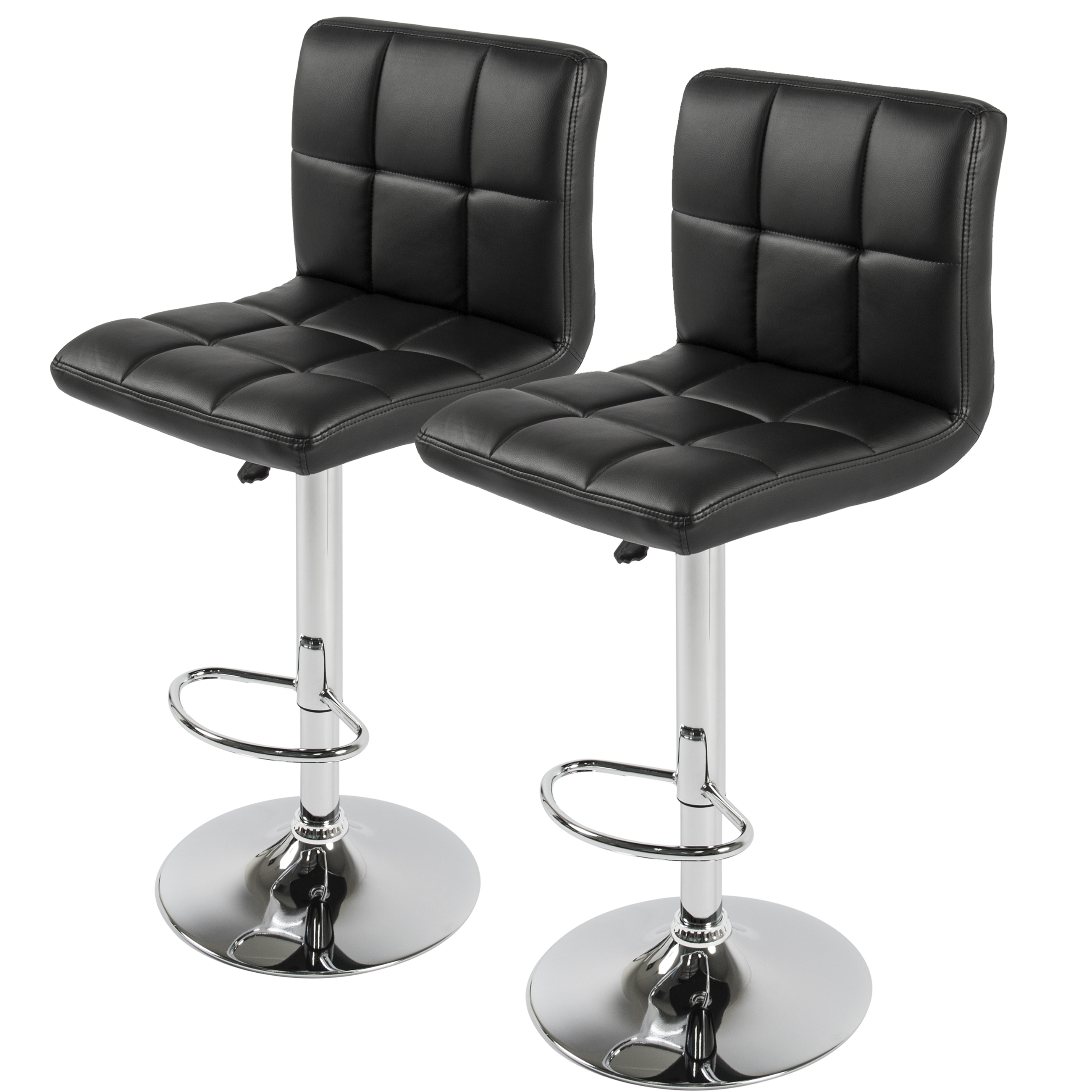 swivel bar stools. BCP Set Of 2 PU Leather Adjustable Bar Stools Counter Swivel Barstool Pub Black