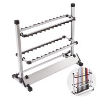 Fishing Rod Rack 24 Rods Holder Portable Aluminum Fishing Rod Storage and Display Rack