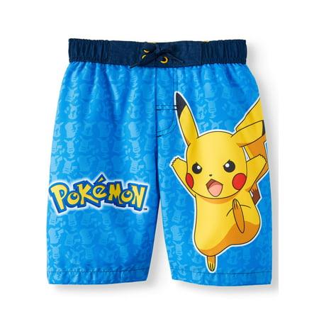 Pikachu Swim Trunk (Little Boys) (Boy Short Bathing Suits)