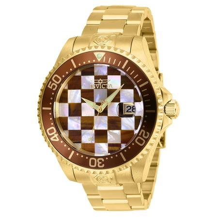 Invicta Men's 27775 Pro Diver Automatic 3 Hand White, Brown Dial Watch