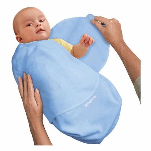Summer Infant Swaddleme MicroFleece Adjustable Infant Wrap, Blue