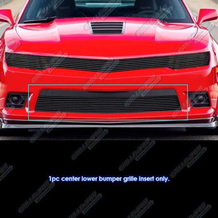 Fits 2014-2015 Chevy Camaro LS/LT/LT With RS Package Black Bumper Billet Grille