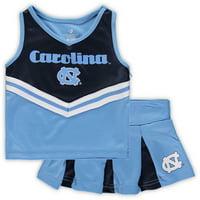 North Carolina Tar Heels Colosseum Girls Toddler Pom Pom Cheer Set - Carolina Blue/Navy