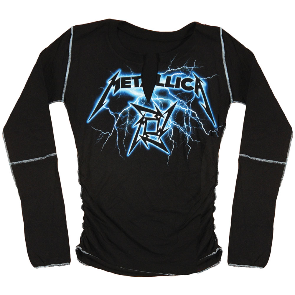 Metallica Women's  Lightning  Long Sleeve Black