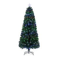 Holiday Time 7-ft Pre-Lit Fiber Optic Artificial Christmas Tree (Multicolor)