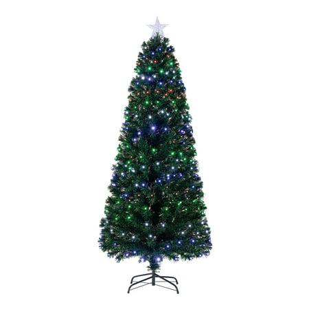 Holiday Time Pre-Lit Fiber Optic Artificial Christmas Tree ...