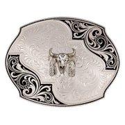 Montana Silversmiths Belt Buckle Buffalo Silver Black 27310-447M