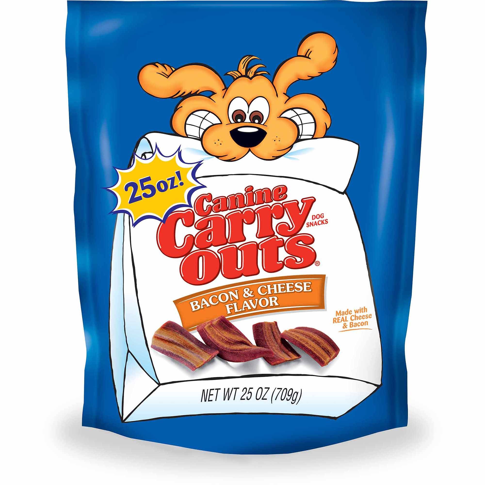 Canine Carry Outs Bacon and Cheese Flavor Dog Snacks, 25 oz