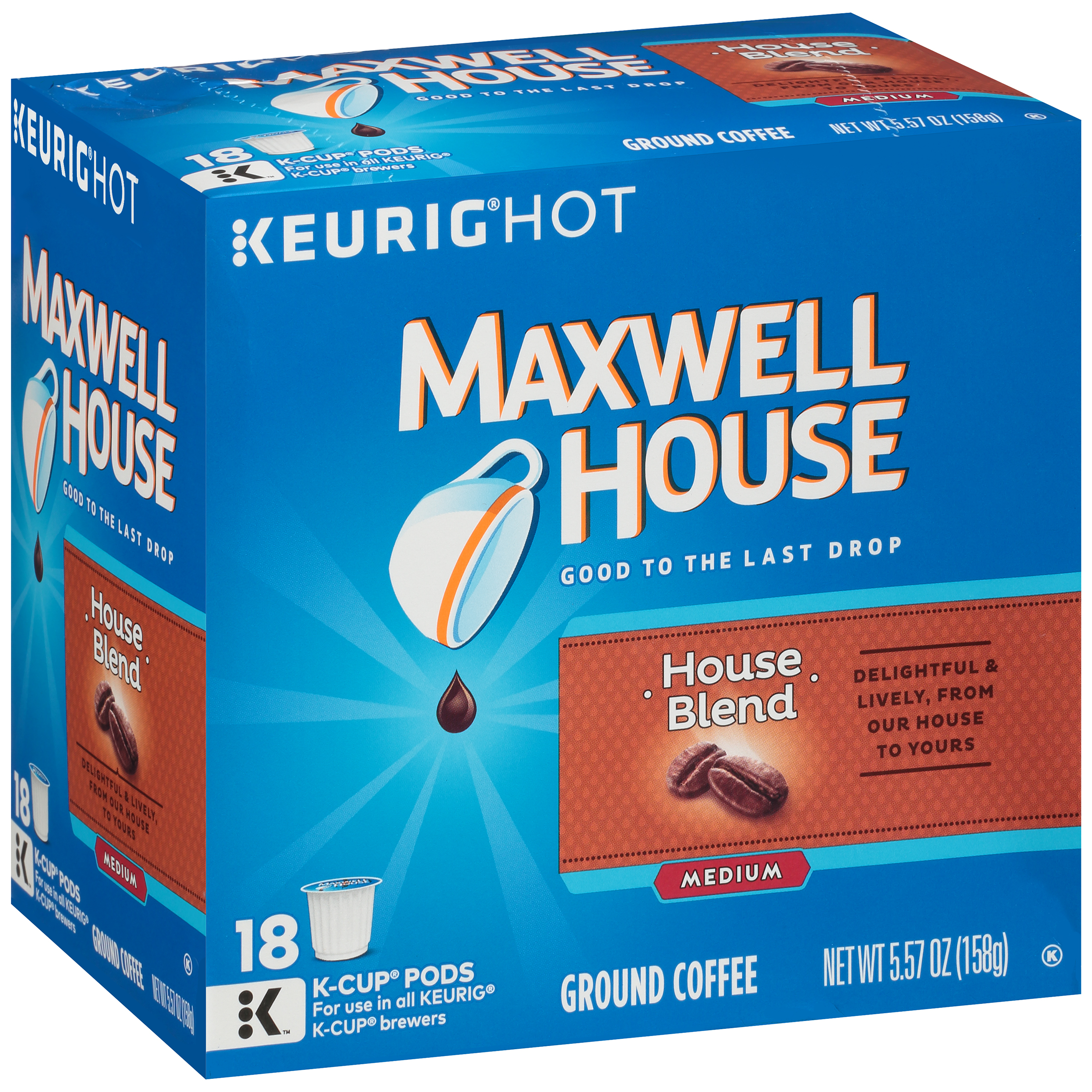 Maxwell House House Blend Coffee K-Cup® Packs 18 ct Box 4300005689