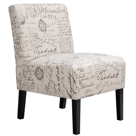 SmileMart Upholstered French Script Accent Chair for Living Room Now $79.99 (Was $99)