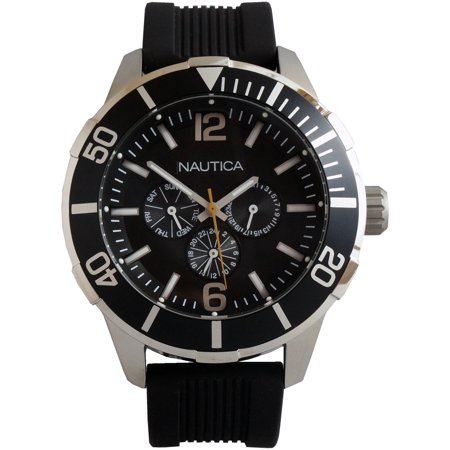 Nautica Luminous Water Resistant Analogue Sports Watch - Black - N14623G