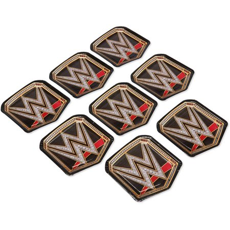 WWE 75 Die Cut Plate 8 Count Party Supplies
