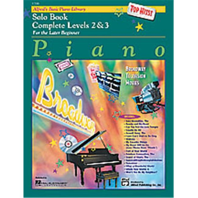 Alfred 00-17200 Basic Piano Course- Top Hits Solo Book Complete 2 & 3 - Music Book