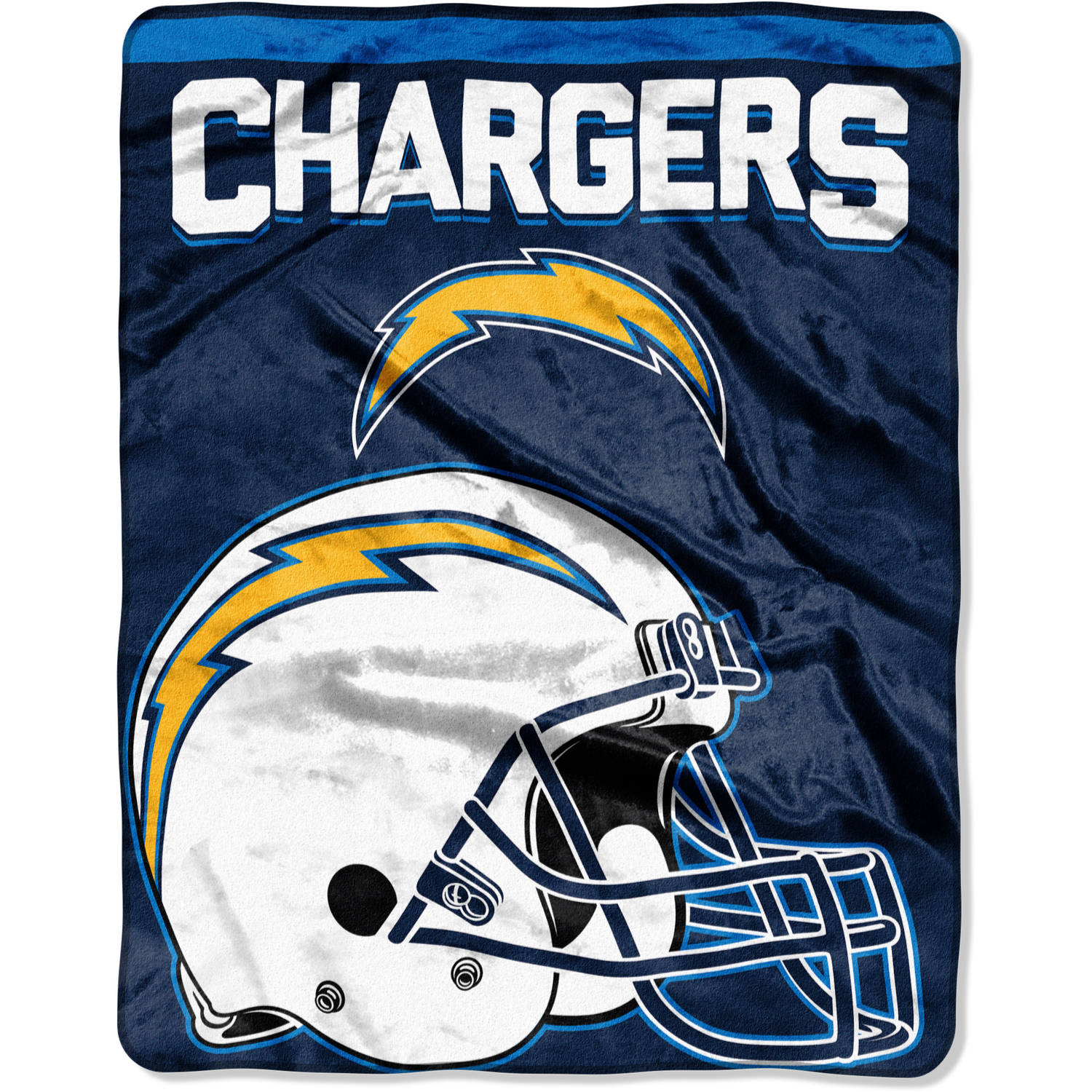 "NFL San Diego Chargers ""Drawback"" 55"" x 70"" Silk Touch Throw"