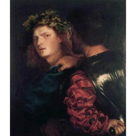 The Bravo 1511-17 Titian (ca1485-1576 Italian) Oil On Canvas Kunsthistorisches Museum Vienna Austria Canvas Art -  (18 x 24) ()