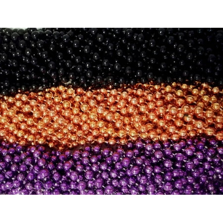 Halloween Party Games For Young Adults (36 Purple Orange Black Halloween Mardi Gras Beads Party Favors Necklaces 3)