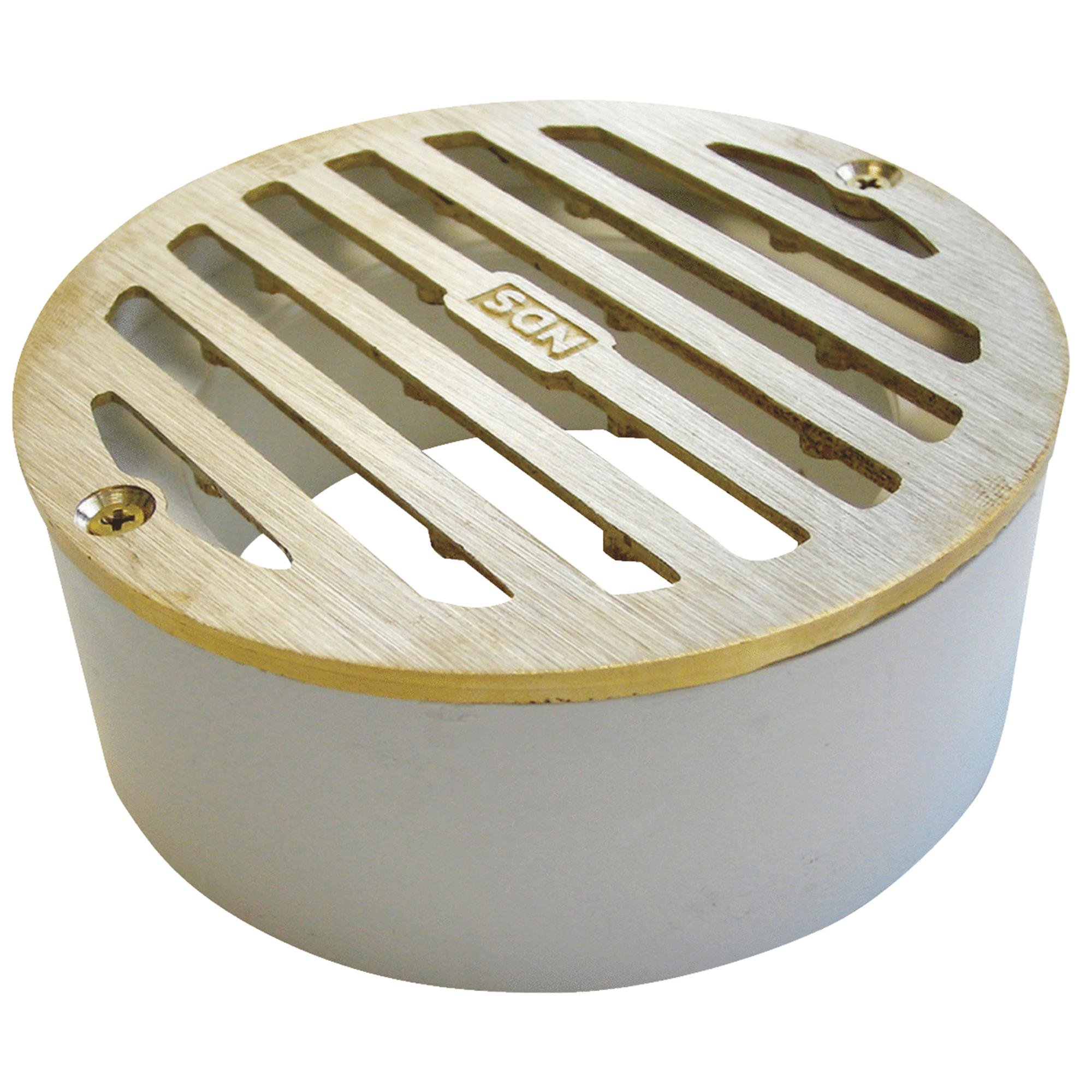 NDS 4 In. Round Satin Brass Grate