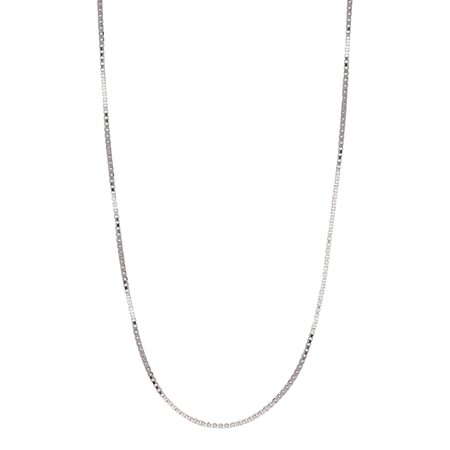 14kt 20 Inch Chain (Jewelers 14K Solid White Gold Box 20 inch Chain Necklace BOXED)