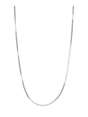 Jewelers 14K Solid White Gold Box 20 inch Chain Necklace BOXED