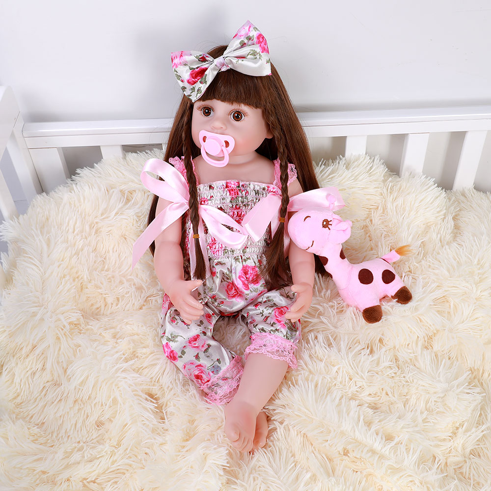 """22"""" Silicone Full Reborn Baby Dolls,Cute Realistic Real ..."""