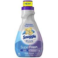 Snuggle Plus Super Fresh Liquid Fabric Softener, Violet Breeze, 48.6 Fluid Ounces, 46 Loads