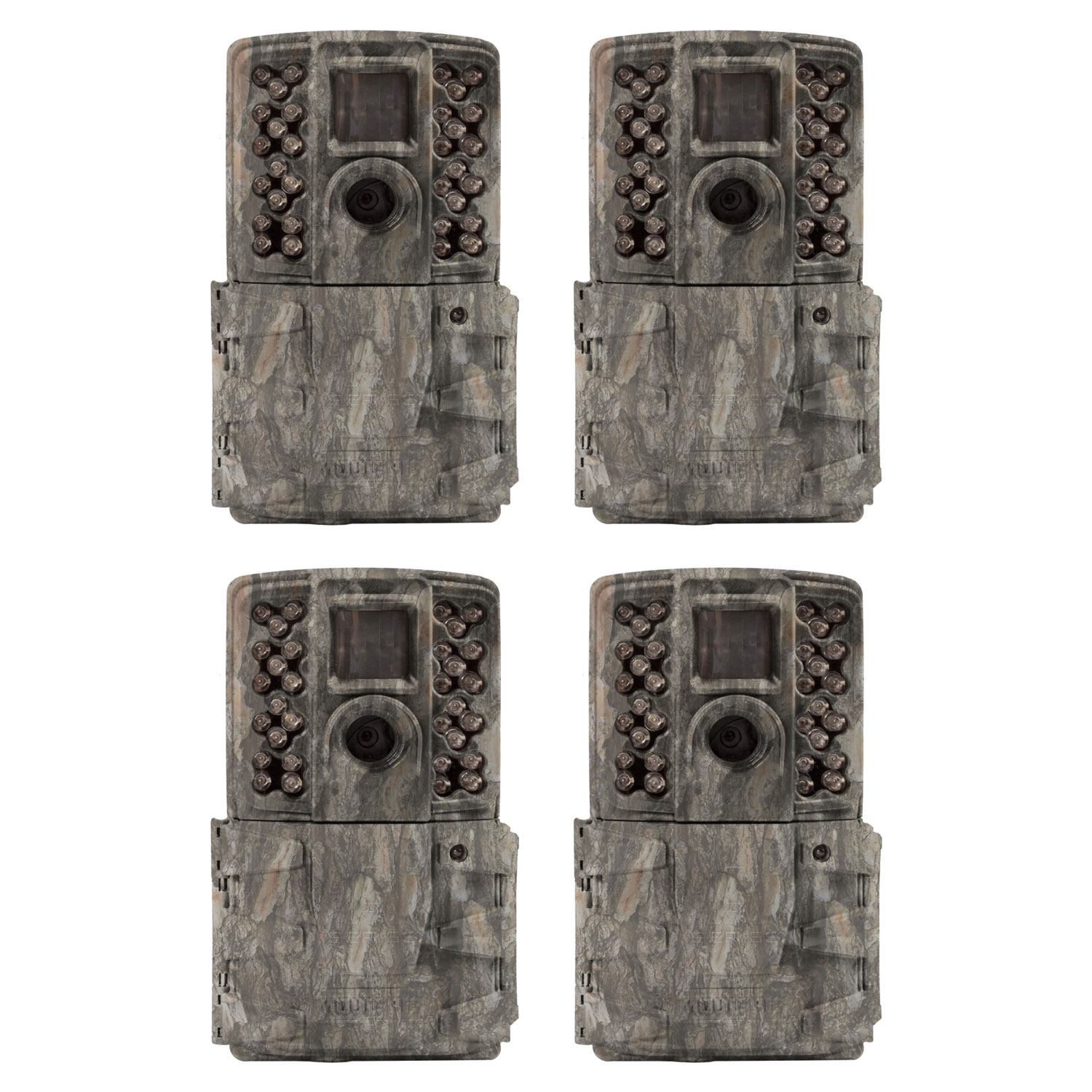 Moultrie A-40i Pro 14MP No Glow Invisible Infrared Game Trail Camera (4 Pack)