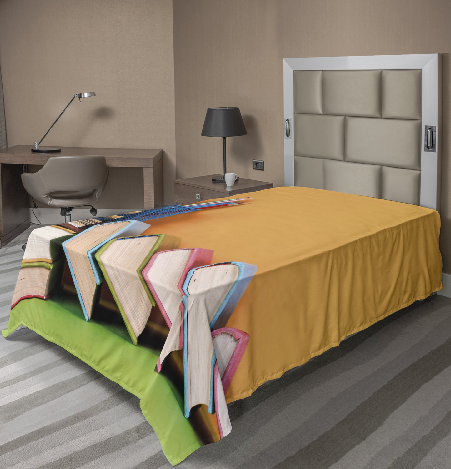 Ambesonne Colorful Theme Flat Sheet Top Sheet Decorative Bedding 6 Sizes