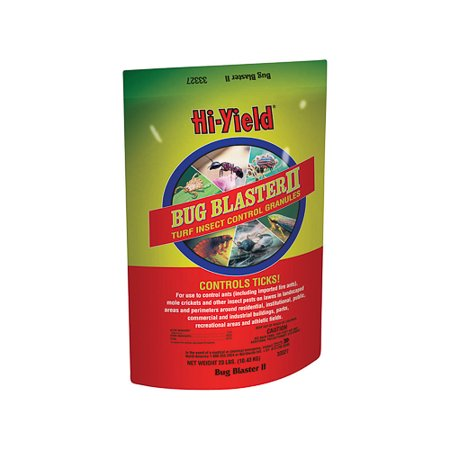 Hi-Yield Bug Blaster Ii Granules Control Insect Pests Lawn Landscape 23 Lb (White Granules)