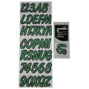HARDLINE PRODUCTS GKIBKG400 Number and Letter Combo Kit,Light Green